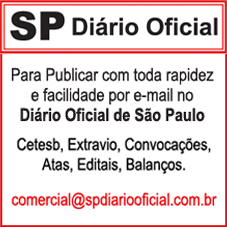 Para Publicar no Diário Oficial de SP – Imprensa Oficial de São Paulo