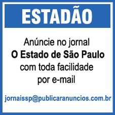 Para Publicar Anúncios no Jornal O Estado de São Paulo - ESTADÃO